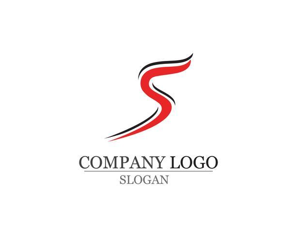 S-logotyp och symbolmall vektorikoner