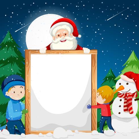 Eine Weihnachtsanmerkungsschablone