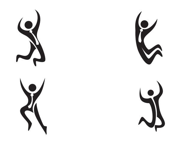 framgång folk Hälsovård logo och symboler mall ..
