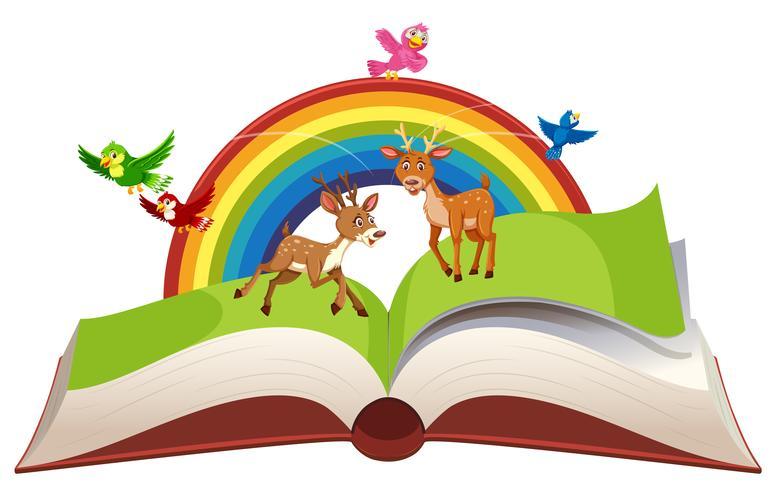 Deer in open book