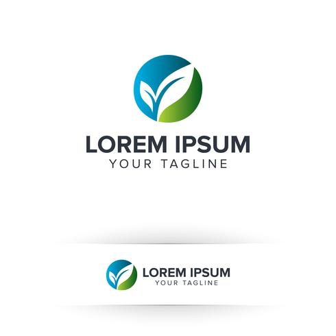 blatt eco logo. Umwelt- und grünes Landschaftsgestaltung-Blatt-Gartennaturlogo