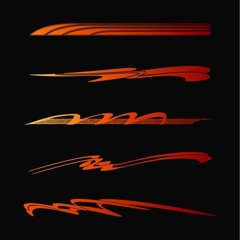 Car Motorcycle Racing Vehicle Graphics, tribal Vinyls and Decals vector