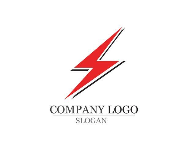 blixt ikon logotyp och symboler vektor mall