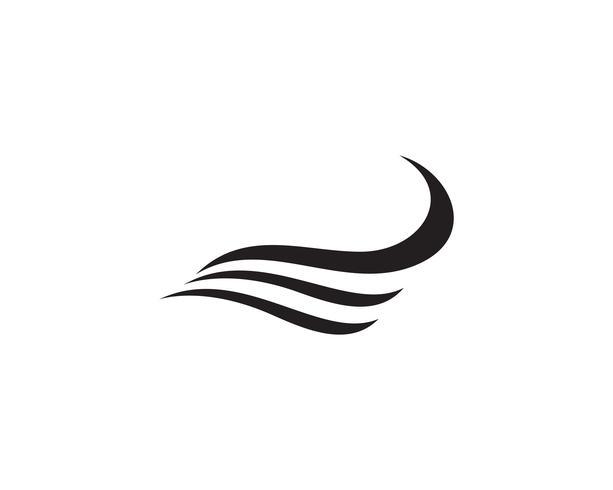 Vågor strandlogotyp och symbolmallikoner