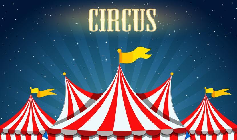 Un borde de circo en blanco