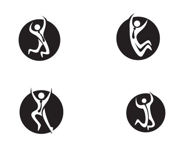 success people  Health care logo and symbols template..