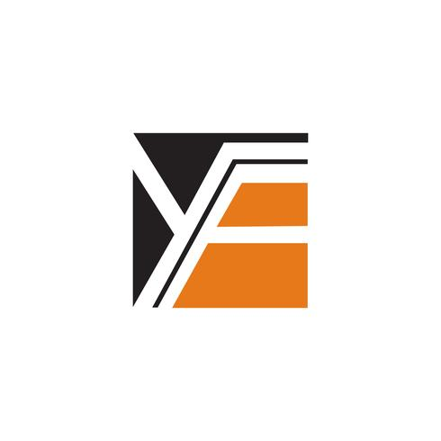 Buchstabe y, f Logo-Design-Konzept-Vorlage