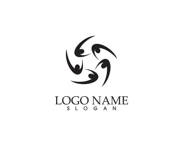 Hälsos framgång människor bryr sig logotyp och symboler mall