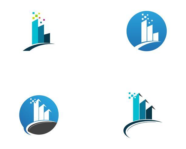 Mall logotyp och symboler affärsmall ikoner