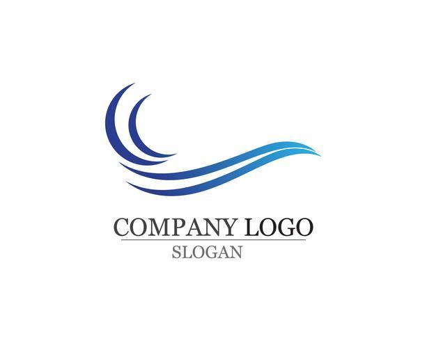 Vågor strand logotyp och symboler mall ikoner app vektor