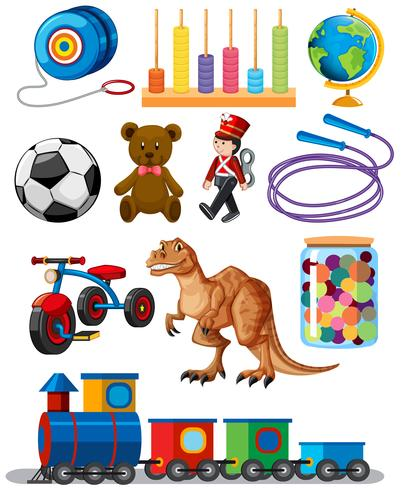 Set of different toys