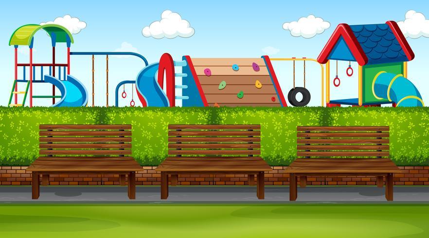 Parkplats med lekplats