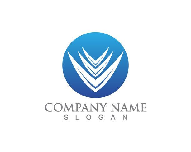 Business finance logo och symboler vektor koncept illustration