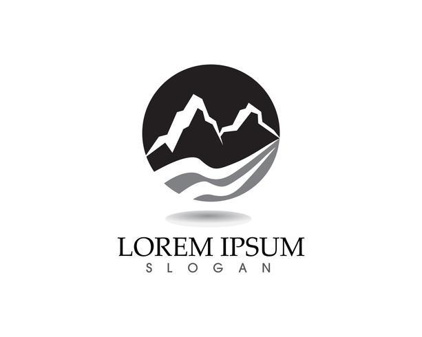Berg natur landskap logotyp och symboler ikoner
