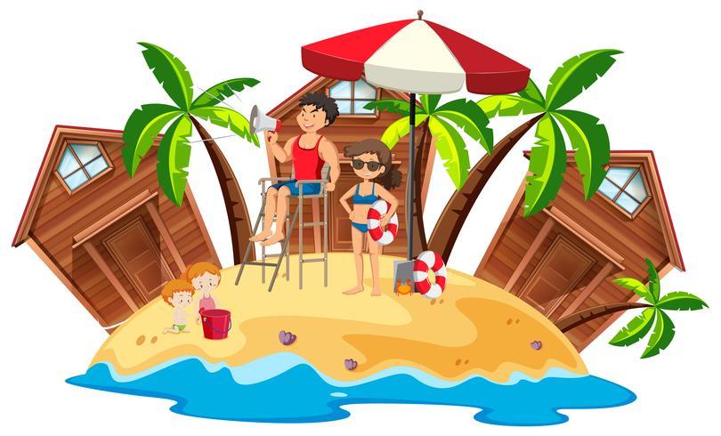 Badmeesters op strandeiland