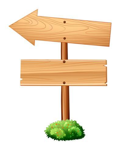 Trä skyltar på polen