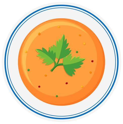 Varm soppa i skålen
