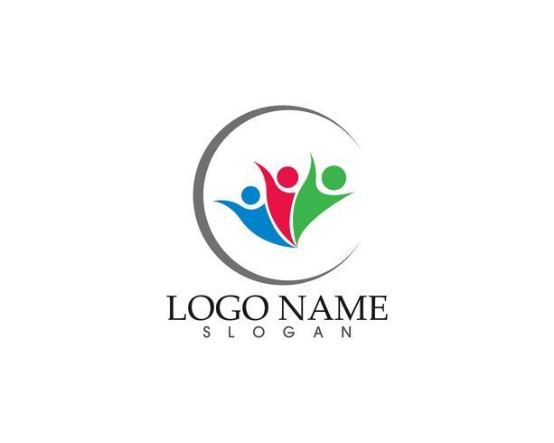 Community vector icon logo och symbol mall