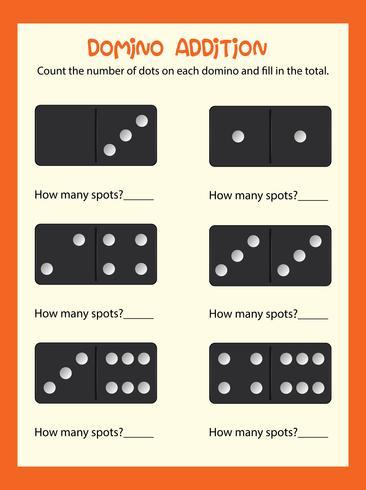 Ett matte domino tilläggsblad