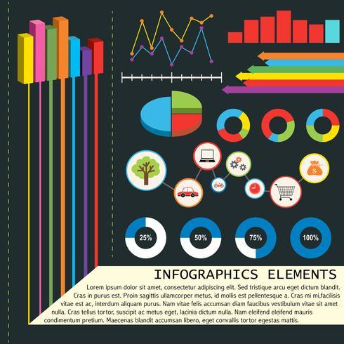 Elementos infográficos con gráficos.