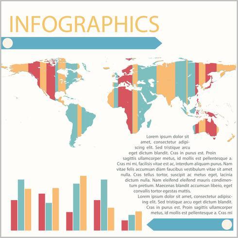 Infografiken einer Karte