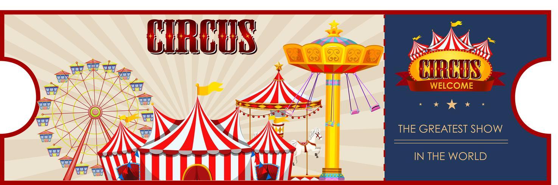 Una plantilla de boleto de circo.