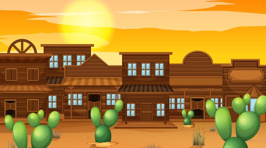 A western saloon background vector