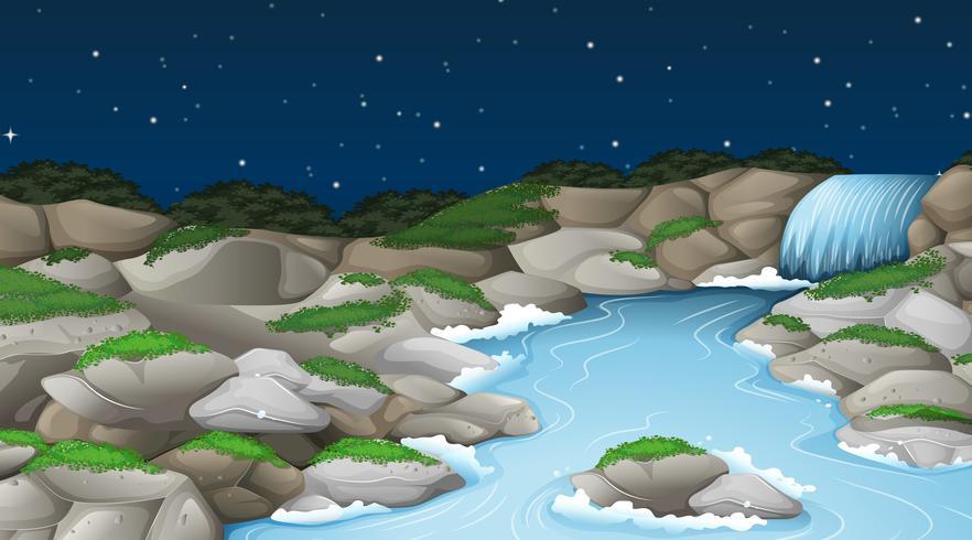 Un paysage de ruisseau nature