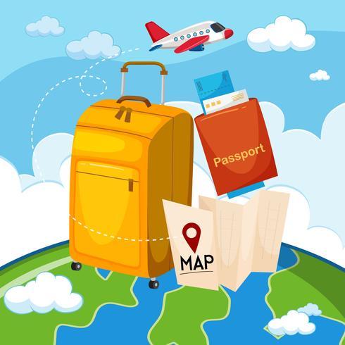 A set of travel element