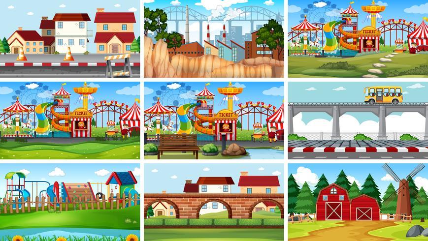 Set of different landscape