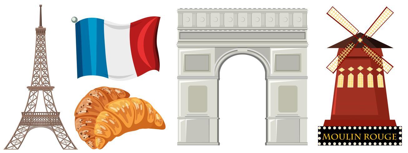 Conjunto de elementos de Francia