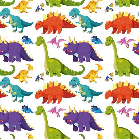 Flache Dinosaurier nahtlose Hintergrund