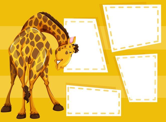 Girafa no modelo de nota