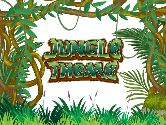 Jungle thema natuur scène