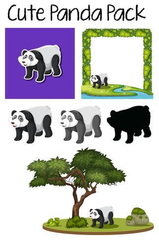 Een pak schattige panda
