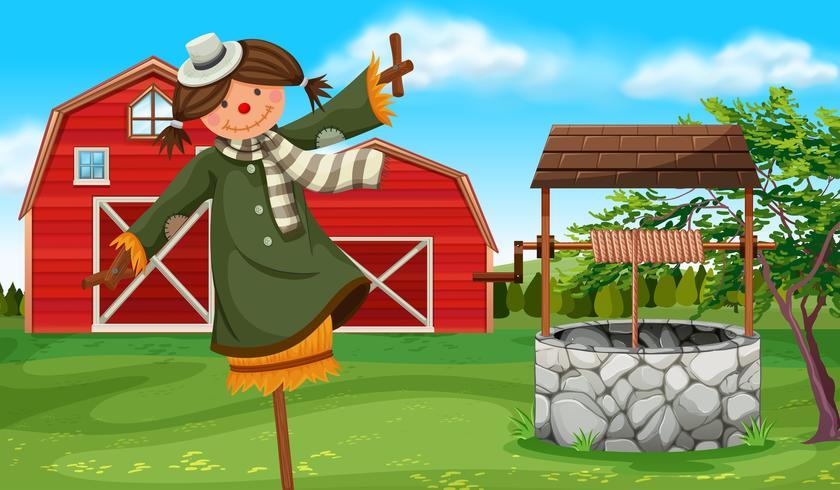 Scarecrow på gården