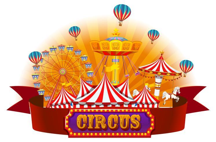 En isolerad cirkus banner