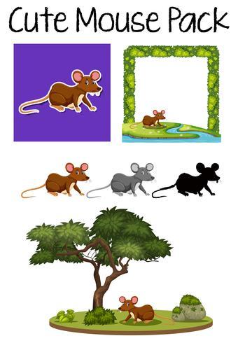 Lindo conjunto de paquetes de ratón