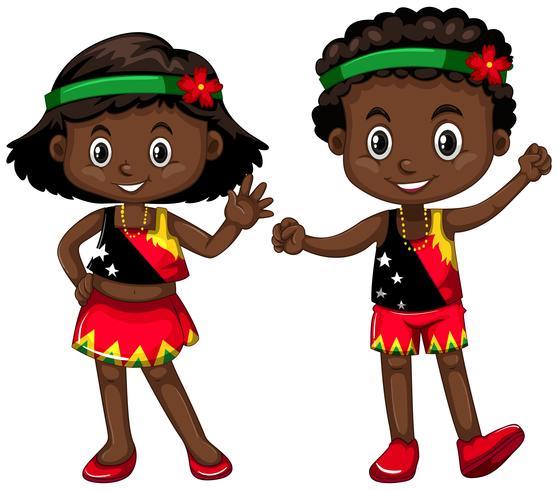 Jungen und Mädchen aus Papua-Neuguinea