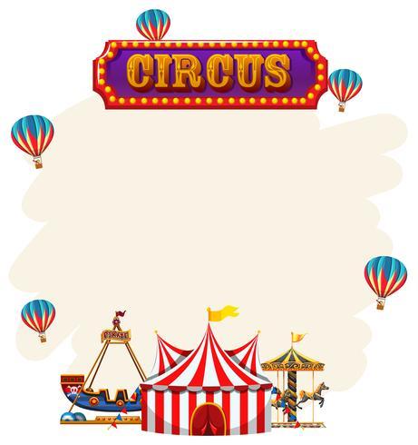 Eine Zirkusnotiz-Vorlage