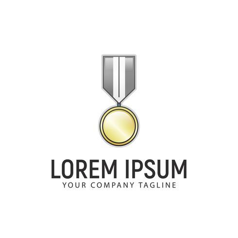 Modèle de concept de conception de logo médaille