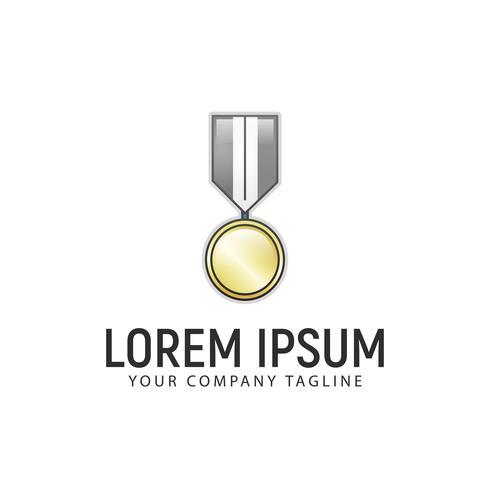 Medal logo design concept template