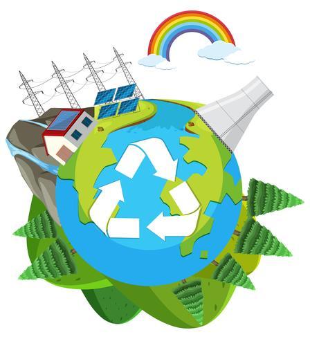 Ein grünes engery Logo der Natur