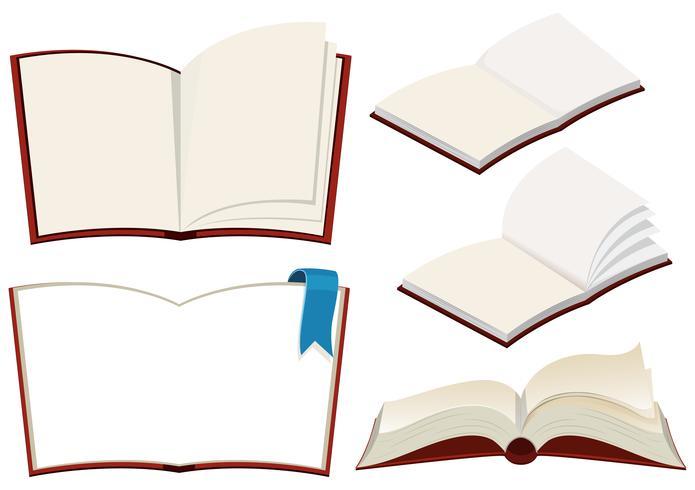 Ensemble de livre sur fond blanc