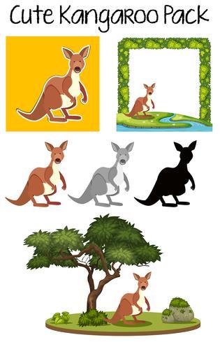 Pack med söt känguru