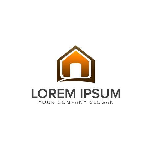 Modelo de conceito de design de logotipo imobiliário casa