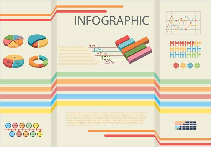 Infographic die de statistieken van mensen toont