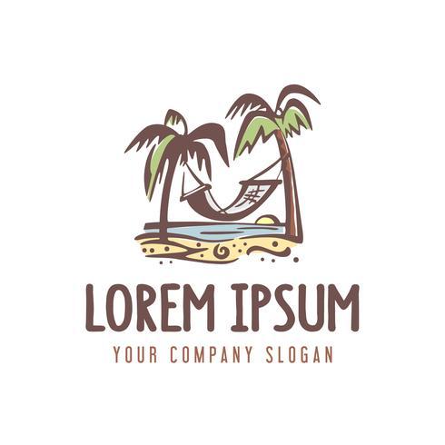 summer vacation logo. retro style design concept template