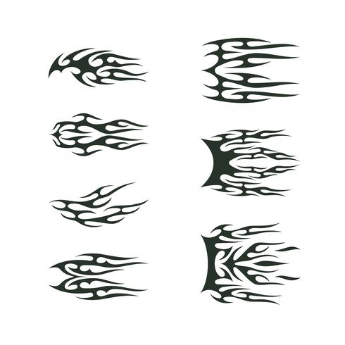 ensemble de collection tribal tatto. flamme tatoo totem Vector Illustration design