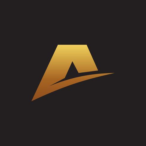 letra Um modelo de conceito de design de logotipo de estrela